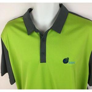 Nike Golf XL Dri Fit Polo Green Logo Athletic XL